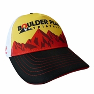 Boulder Peak Tri: 'BP Logo' Tech Trucker - Yellow Front / Blue Brim - by Headsweats®