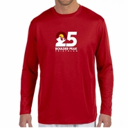 Boulder Peak Tri: 'Map' Men's LS Tech Tee - Cherry Red - by New Balance®