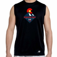 Boulder Peak Tri: 'Peak' Men's Sleeveless Tech Tank - Black - by New Balance®