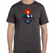 Boulder Peak Tri: 'Peak' Men's SS Tri-Blend Tee - Charcoal Black - by Canvas®