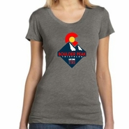 Boulder Peak Tri: 'Peak' Women's SS Tri-Blend Tee - Grey - by Bella®