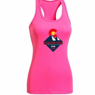 Boulder Peak Tri: 'Peak' Women's Tank Tech Singlet - Hot Pink