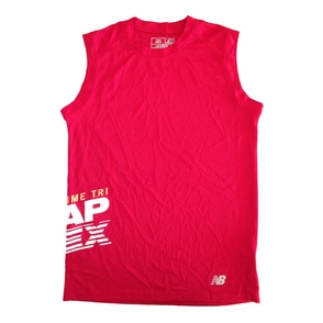 CapTex Tri: Event Men's Sleeveless Tank - New Balance&reg- Cherry Red Tech - Click to enlarge