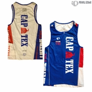 CapTex Tri: Event Men's Tri Singlet - Pearl Izumi 'Select' - Blue/White