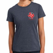CapTex Triathlon: '2016 Course Map Design' Women's SS Fashion Tee - Heathered Navy - by District®