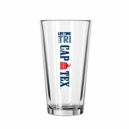CapTex Triathlon: 'Logo Design' 16 oz. Glass Pint - Clear