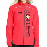 Escape To Miami Triathlon: 'Left Chest Print Vertical' Women's Lightweight Reflective Full Zip Jacket - Hot Coral - by Port Authority®