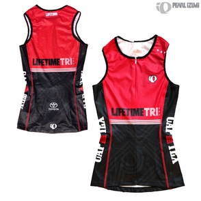 CapTex Tri: Event Women's Tri Singlet - Pearl Izumi 'Select' - Red / Black - Click to enlarge