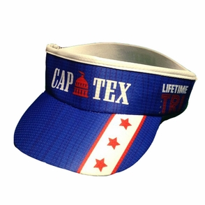 CapTex Tri: Event 'Supervisor' Visor - Flex-fit - Royal - Click to enlarge