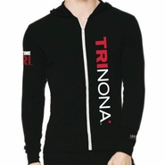 Trinona Triathlon: Vertical Men's LS Hoody - Full Zip - Black