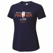 Miami Marathon 2014 Ladies FINISHER Short Sleeve Cotton Tee - Navy