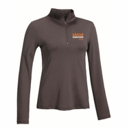 Miami Marathon 2014 Ladies Left Chest Print Spandex 1/4 Zip Pullover - Charcoal