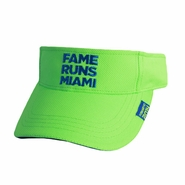 Miami Marathon 2014 Performance Visor - Undated - Hi-Visibility Green