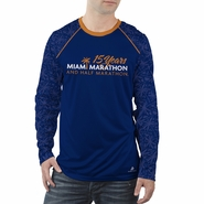 Miami Marathon: 'Event Logo' Men's LS Sublimated Tee - Navy