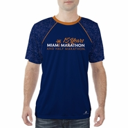 Miami Marathon: 'Event Logo' Men's SS Sublimated Tee - Navy