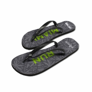 Miami Marathon: 'Event Logo' Sublimated Flip-Flops - Charcoal