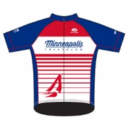 MPLS Tri: 'MPLS Logo' Men's SS Performance Jersey - Red / White / Blue - by Voler®