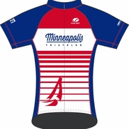 MPLS Tri: 'MPLS Logo' Women's SS Performance Jersey - Red / White / Blue - by Voler®