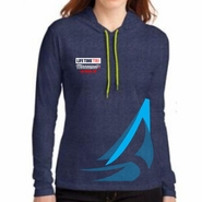 MPLS Tri: 'Right Chest Print' Women's Lightweight Fashion Hoody - Heather Blue - by Anvil®