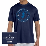 Novo Nordisk New Jersey Marathon & Half Marathon: 'In Training' Men's SS Tech Tee - Navy - by New Balance�