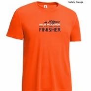 Miami Marathon: '2017 Finisher' Men's SS Tech Tee - Safety Orange