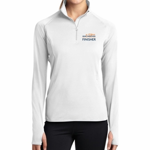 Miami Marathon: '2017 Finisher' Women's 1/2 Zip Colorblock Stretch Pullover - White - by Sport-Tek® - Click to enlarge