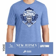 Novo Nordisk New Jersey Marathon & Half Marathon: 'Crest' Men's SS Tri-Blend Tee - Maritime Frost - by District Made�
