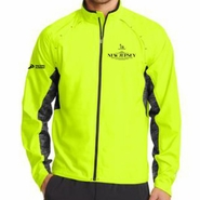 Novo Nordisk New Jersey Marathon & Half Marathon: 'Left Chest Embroidery' Men's Full Zip Reflective Water/Wind-Resistant Jacket - Pace Yellow - by OGIO�