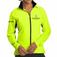 Novo Nordisk New Jersey Marathon & Half Marathon: 'Left Chest Embroidery' Women's Full Zip Water Resistant Reflective Jacket - Pace Yellow - by OGIO�