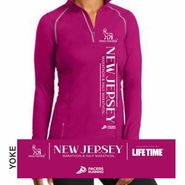 Novo Nordisk New Jersey Marathon & Half Marathon: 'Left Chest Print' Women's 1/4 Zip Tech Pullover - Flush Pink - by OGIO�