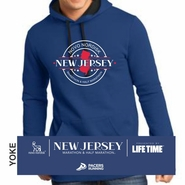Novo Nordisk New Jersey Marathon & Half Marathon: 'Round' Adult Fleece Hoody - Deep Royal