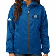 Salt Lake City Marathon: 'Left Chest Embroidery' Women's Full Zip Packable Wind Jacket - Brilliant Blue