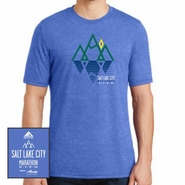Salt Lake City Marathon: 'Reflect' Men's SS Tri-Blend Tee - Vintage Royal