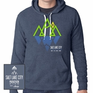 Salt Lake City Marathon: 'Reflect' Men's Tri-Blend Hoody - Navy