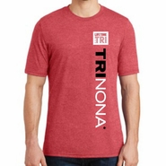 TRInona: 'Left Chest Print Design' Adult SS Tri-blend Tee - Red - by Bella®