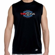 TRInona: 'Map Design' Men's Sleeveless Tech Tank - Black - by New Balance®