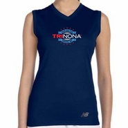 TRInona: 'Map Design' Women's Sleeveless Tech Tank - Navy - by New Balance®
