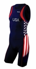 2013 Men's TYR Carbon Stars & Stripes Short John