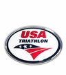 Elektroplate USAT Triathlon Oval Car Emblem