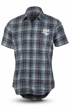 TYR USAT Men's Plaid Button Down