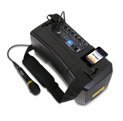 DJ Tech iVisa 50 Light Battery Portable PA System with iPod Player