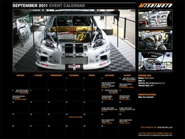Download the FREE September 2011 Calendar Featuring WORLD Racing's All-New Scion tC!