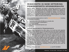 Mishimoto is Now Offering Powersports Sponsorships