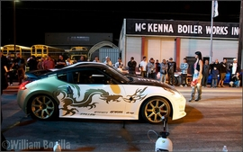 "Photos on the set of ""Born to Race"" movie"