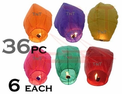 Floating Luminaries - Mixed Colors (36 Count)
