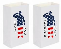 Military Luminary - Paper Bag (6 Count)