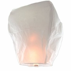 White Sky Lanterns - 10 Count