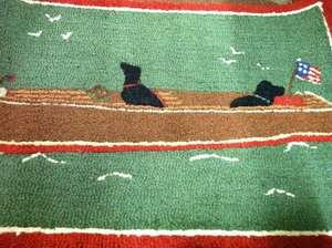 Chris Craft Hooked Rug