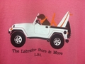 Ladies- Chocolate Lab in Jeep