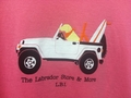 Ladies- Yellow Lab in Jeep